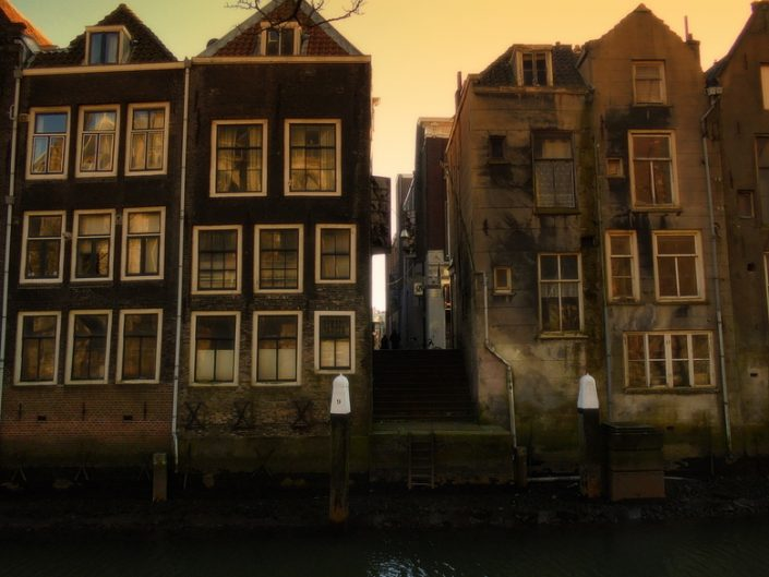 old canal houses in Amsterdam