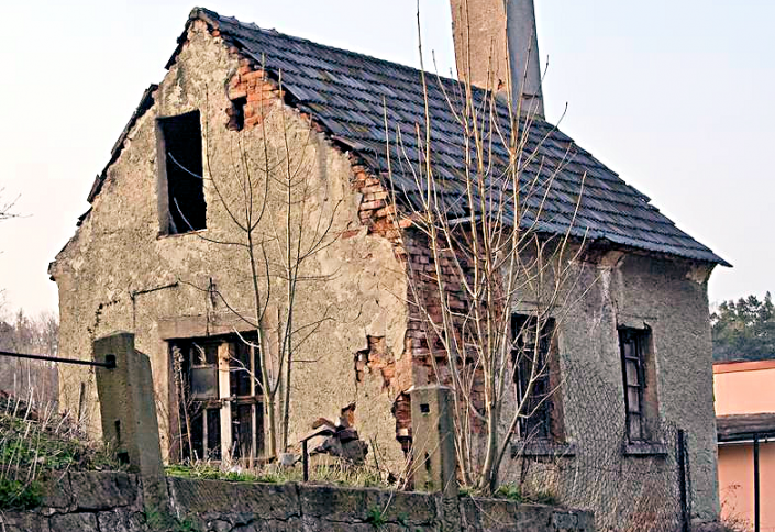 old dilapidated house