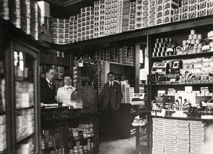 vintage phote grocery store